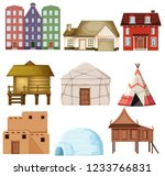 Set Of Different House Style...