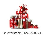 christmas and new year gifts in ... | Shutterstock . vector #1233768721
