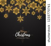 christmas poster with golden... | Shutterstock .eps vector #1233770761