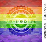 adoption is love emblem on... | Shutterstock .eps vector #1233770911