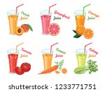 set of different fruit and... | Shutterstock .eps vector #1233771751