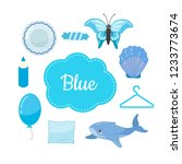 learn the primary colors. blue. ...   Shutterstock .eps vector #1233773674