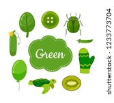 learn colors. green. different...   Shutterstock .eps vector #1233773704
