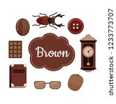 learn colors. brown. different... | Shutterstock .eps vector #1233773707