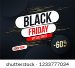 abstract black friday banner... | Shutterstock .eps vector #1233777034