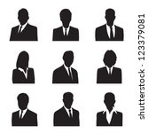 silhouette business | Shutterstock .eps vector #123379081
