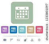 hanging calendar white flat... | Shutterstock .eps vector #1233801097