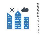 city building glyph vector icon | Shutterstock .eps vector #1233806257