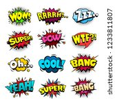 set of superhero comic book... | Shutterstock .eps vector #1233811807