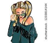 beautiful young woman. fashion... | Shutterstock .eps vector #1233814144