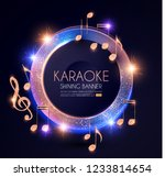 music event shining banner with ... | Shutterstock .eps vector #1233814654