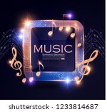 music event shining banner with ... | Shutterstock .eps vector #1233814687