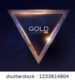 abstract shiningtriangle gold... | Shutterstock .eps vector #1233814804