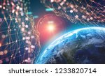 planet earth in the era of... | Shutterstock . vector #1233820714