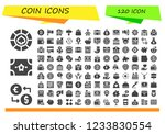 vector icons pack of 120 filled ...   Shutterstock .eps vector #1233830554