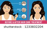 hair care. common problems  ... | Shutterstock .eps vector #1233832204