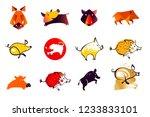 set vector illustration... | Shutterstock .eps vector #1233833101