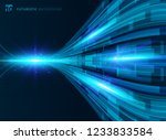 abstract blue virtual... | Shutterstock .eps vector #1233833584