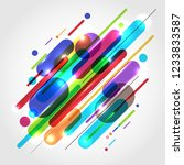 abstract motion dynamic... | Shutterstock .eps vector #1233833587