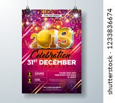 new year party celebration... | Shutterstock .eps vector #1233836674
