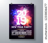 2019 new year party celebration ...   Shutterstock .eps vector #1233836677