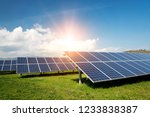 solar panels  photovoltaics ... | Shutterstock . vector #1233838387
