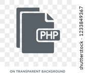 php icon. trendy flat vector... | Shutterstock .eps vector #1233849367