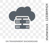 hosting icon. trendy flat... | Shutterstock .eps vector #1233849424