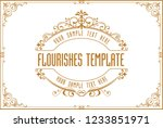 gold border frame with thailand ... | Shutterstock .eps vector #1233851971