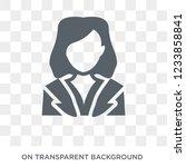 hr specialist icon. trendy flat ... | Shutterstock .eps vector #1233858841