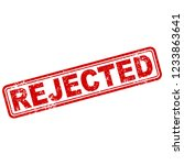 rejected stamp sign grunge...   Shutterstock .eps vector #1233863641
