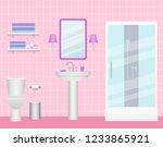 bathroom interior. vector.... | Shutterstock .eps vector #1233865921
