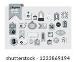 advent calendar. abstract...   Shutterstock .eps vector #1233869194