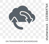 sync icon. trendy flat vector... | Shutterstock .eps vector #1233869764