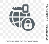virtual private network icon.... | Shutterstock .eps vector #1233869767