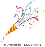 party cracker clip art | Shutterstock .eps vector #1233871441