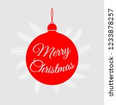 merry christmas. happy new year.... | Shutterstock .eps vector #1233878257