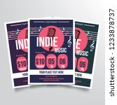 indie music flyer template... | Shutterstock .eps vector #1233878737