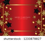 merry christmas and happy new... | Shutterstock .eps vector #1233878827