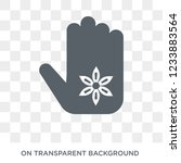 henna painted hand icon. trendy ... | Shutterstock .eps vector #1233883564
