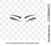 closed eyes with lashes and... | Shutterstock .eps vector #1233886651