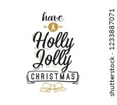 merry christmas. typography.... | Shutterstock .eps vector #1233887071