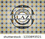 blaze arabic style emblem.... | Shutterstock .eps vector #1233893521
