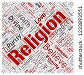 vector conceptual religion  god ...   Shutterstock .eps vector #1233893551