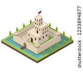 medieval kingdom concept 3d... | Shutterstock .eps vector #1233894877