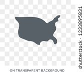 united states icon. trendy flat ... | Shutterstock .eps vector #1233895831