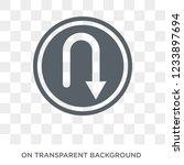 u turn sign icon. trendy flat... | Shutterstock .eps vector #1233897694