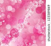 pink valentine bokeh design | Shutterstock . vector #123389869