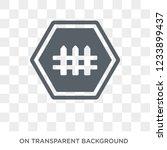 barrier sign icon. trendy flat... | Shutterstock .eps vector #1233899437