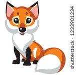 cartoon red fox .isolated... | Shutterstock .eps vector #1233901234